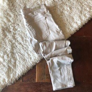 AG | The Stevie Ankle Slim Straight Cream Jeans